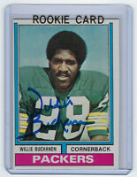 1974 PACKERS Willie Buchanon signed ROOKIE card Topps #292 AUTO Autographed RC
