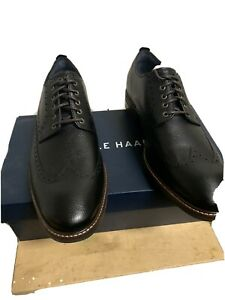 Cole Haan Grand OS C27088 Mens 12 Black Leather Wingtip Watson Oxford Shoes