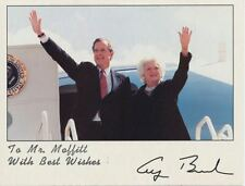 Official Republican Photo President George and Barbara Bush Waving Air Force One