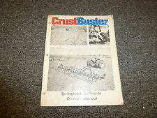 Crust Buster 2 & 3 Row Springtooth Cultivators Owner Operator Maintenance Manual