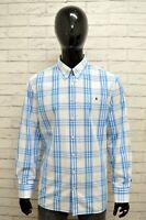 Camicia GAASTRA Uomo Taglia Size XL Maglia Shirt Man Cotone Quadri Regular Blu