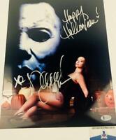 Danielle Harris signed Halloween 11X14 METALLIC photo BAS COA H32725