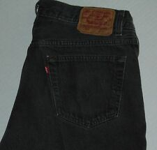 VTG 80s Levi's 501 Button Fly Jeans Black Made in USA Size 36x29 100% Cotton VGC