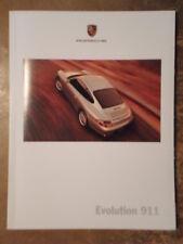 PORSCHE 911 RANGE orig 1999 USA Mkt Prestige Sales Brochure