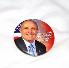 NEW YORK RUDY GIULIANI PRESIDENT 2008 ORIGINAL  POLITICAL CAMPAIGN PIN