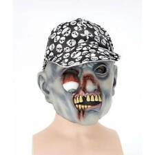 REDUCED Hanging Eye Mask with Skull Peaked Cap Halloween Horror Fancy Dress