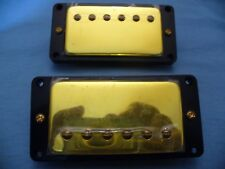 GOLD HUMBUCKER PICKUPS BRAND NEW  PAF STYLE + MOUNTING RINGS  USA SHIPPING