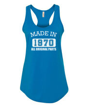 CLEARANCE SALE - Womens Tank Top Made in 1970 T Shirt Gift - Size Small