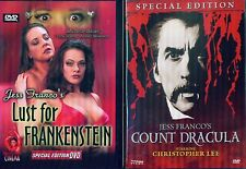 DRACULA & FRANKENSTEIN: Jess Franco's Cult Classics- Christopher Lee- NEW 2 DVD