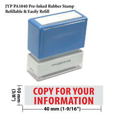 JYP PA1040 Rectangle Stock Pre-Inked Rubber Stamp w.