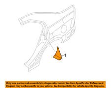 Lincoln FORD OEM 07-12 MKZ Exterior-Front Molding Left 6H6Z5428167AB