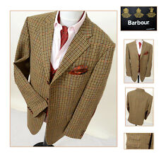 BARBOUR WOOL TWEED MENS SPORTS JACKET BLAZER COAT 44R COUNTRY CHECK HACKING VTG