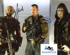 ADEWALE AGBAJE, WILL SMITH, JOEL KINNAMAN SUICIDE SQUAD AUTOGRAPH SIGNED PHOTO