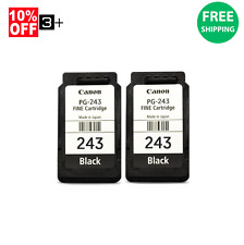 2Pk Genuine Canon Ink Cartridges PG-243 Black For MG2522 MG3020 MG2520 MG3022