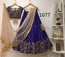 Blue Designer Lehenga Choli Net Dupatta Designer Wedding Lengha Indian Culture