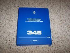 1994 Ferrari 348GTS 348 GTS Spider 348GT Competizione Spare Parts Catalog Manual
