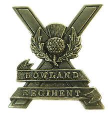 LOWLAND REGIMENT GENUINE REGIMENTAL LICENSED CAP BADGE