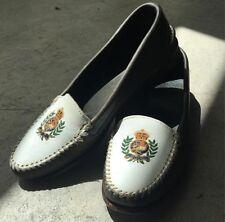 Vintage Polo Ralph Lauren Crest Shoes Leather Loafers 92 Stadium Bear 6.5 RARE