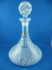 VINTAGE  24 % LEAD CRYSTAL  SHIP DECANTER