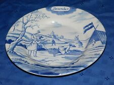 MMA Metropolitan Museum Art December Delft Collectible Plate Made in Holland