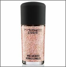 MAC Studio Nail Lacquer Nail Polish DIVA FIERCE Pink Gold Glitter NEW in BOX