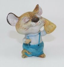 Vintage Homco Porcelain Figurine - Series #5601 - Mouse with Cheese