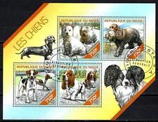 Chiens Niger (37) série complète de 4 timbres oblitérés