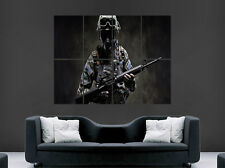 FORZE SPECIALI ESERCITO MACHINE GUN poster guerra GAS MASK ART PICTURE PRINT LARGE