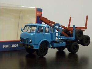 1:43 MAZ-509, 1968 Logging Truck with Trailer #45 Legendary Trucks (Modimio)