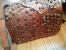 NWT Patricia Nash Studded Link Perf Rosa Tan Brown Leather Bag Purse $249