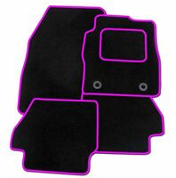 KIA PICANTO 2004-2010 - Tailored Fitted Carpet Car Floor BLACK MATS PINK EDGING