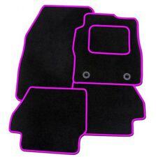 SKODA OCTAVIA MK3 2013 ON - Tailored Carpet Car Floor BLACK MATS PINK EDGING