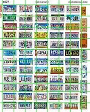 4027 DAVE'S DECALS GARAGE HOT ROD 50 STATES LICENSE PLATES 1:24 1:25 RAT ROD