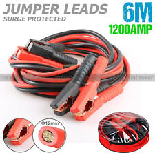 Heavy Duty 1200AMP Jumper Leads Jump 6M LONG Booster Cables Surge Protected