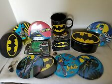 Huge Lot of Misc. Batman Cup Robin Joker Toys Memorabilia Pins & MUCH MORE