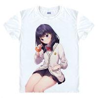 New Anime SSSS.GRIDMAN Takarada Rikka Men's White T-shirt Short Sleeve TEE S-3XL