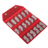 Stainless Steel Angle Gage 18pcs/set Inspection Gauge Template Machinist Tool