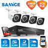 SANNCE 2MP POE Home Security Camera System 4CH 1080P NVR Outdoor IP Network CCTV