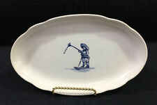 Royal Goedewaagen Holland Oval Relish Dish Boy With Kite Crazed Vintage Holland