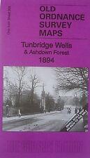 Old Ordnance Survey Map Tunbridge Wells  & District & Ashdown Forest 1894
