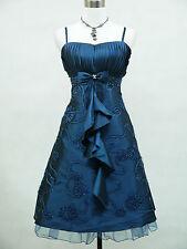 Cherlone Plus Size Blue Prom Ball Evening Formal Bridesmaid Wedding Dress 16-18