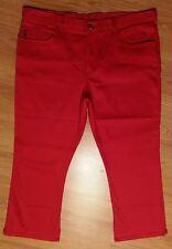 JUST USA Bright Red Solid 5 Pocket Stretch Capri Pants SZ 23