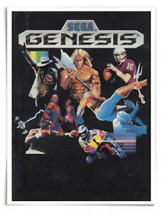 """Poster - 1990 Sega Genesis Catalog Cover - 16"""" x 20"""" Premium Matte Paper"""