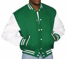 DeLong Kelly Green Leather Wool Varsity Letterman Jacket NWT 2XL $175 Made USA
