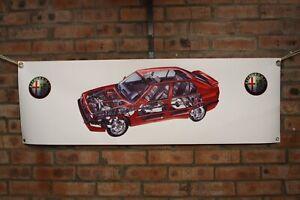 Alfa romeo 33 Second Series  large pvc  WORK SHOP BANNER garage man cave SHOW