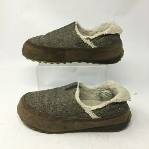 Sorel Cody Slip On Shearling Slippers Womens 7.5 Leather Fabric Brown NL1534-287