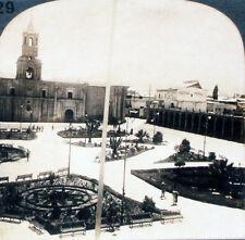 Keystone Stereoview Plaza of Arequipa, PERU, So America 1910's Education Set # A