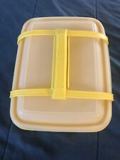 TUPPERWARE 3 Piece Yellow Pack & Carry Lunch Box or Ice Cream Keeper  #1254