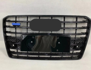 For Audi A8 D5 S8 style Front Upper Grille Honeycomb Radiator Grill 2015-2018
