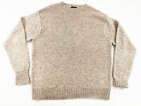 Pendleton Mens 100% Shetland Washable Wool Pullover Sweater Beige Size XXL